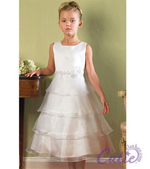 White Flower Girls Dress - 1152
