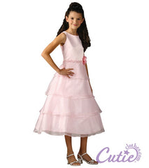 Pink Flower Girls Dress - 1152