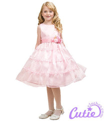 Pink Flower Girl Dress - 1177