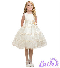 Ivory Flower Girl Dress - 1177