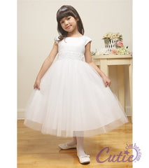White Flower Girls Dress - 1184