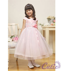 Pink Flower Girl Dress - 01185