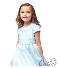 Blue Flower Girl Dress - 1199
