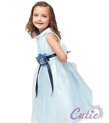 Blue Flower Girl Dress - 1200