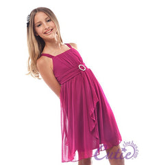 Magenta Flower Girl Dress - J-1192