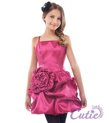 Fuchsia Flower Girls Dress - J-1194