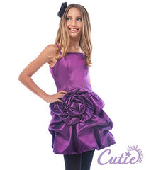 Purple Flower Girls Dress - J-1194