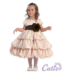 Champagne Flower Girl Dress - BL204