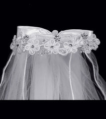 Girls Embroidered Veil - T32