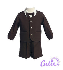 Brown Boys Shorts Set - 0G816