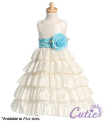Ivory Flower Girl Dress - BL203