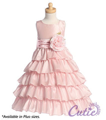 Pink Flower Girl Dress - BL203