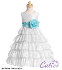 White Flower Girl Dress - BL203