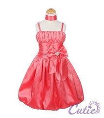 Coral Flower Girl Dress - 1010