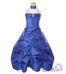 Royal Blue Flower Girl Dress - 1026