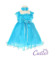 Turquoise Baby Dress - 1083B