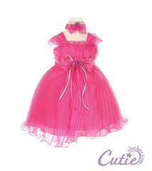 Fuchsia Baby Dress - 1083B