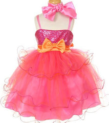 Fuchsia Flower Girl Dress - 1119