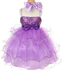 Purple Flower Girl Dress - 1119
