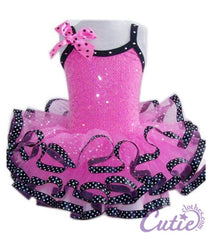 Hot Pink Ribbon Dance Dress - SK-656