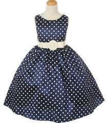Navy Flower Girl Dress - 1097