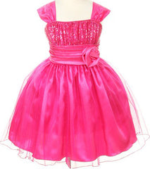 Fuchsia Girls Dress - 1092