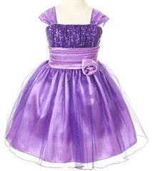 Purple Girls Dress - 1092