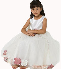 Ivory Flower Girl Dress - 0160B