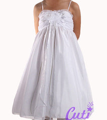 White Flower Girl Dress - 0230