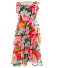 Long Flower Print Dress-3783.10