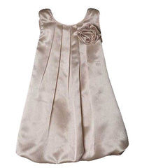 Champagne Girls Dress - 0242