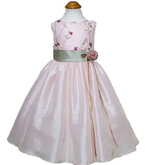 Sage Flower Girls Dress - 0226