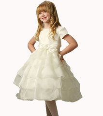 Ivory Flower Girls Dress - 01172