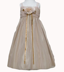 Mocha Flower Girl Dress - 0230