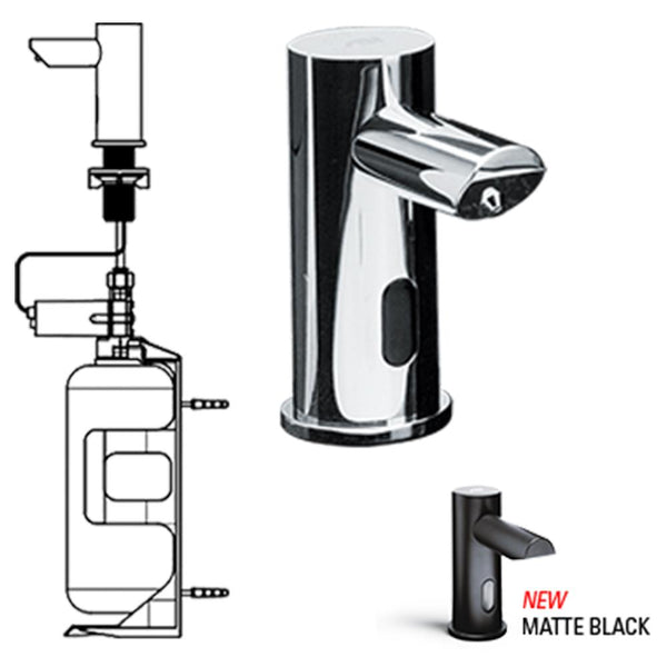 ASI 0391-1AC EZ Fill Automatic Soap Dispenser 33.8 oz. w/ 1 Liter Bottle Vanity Mounted - Prestige Distribution