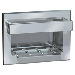 ASI 0398 Soap Dish w/ Bar Stainless Steel Dry Wall Recessed - Bright