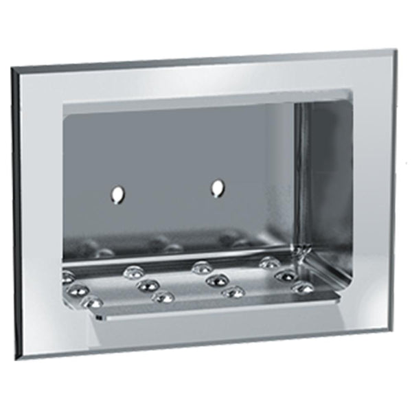 ASI 0400 Soap Dish Stainless Steel Dry Wall Recessed - Bright