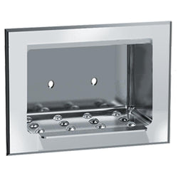 ASI 0401 Soap Dish Stainless Steel Wet Wall Recessed - Bright