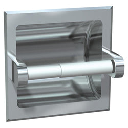 ASI 0402 Toilet Paper Holder Chrome Plated Wet Wall Lugs Recessed