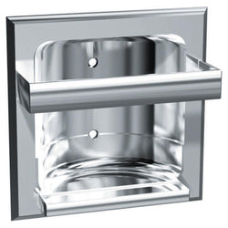 ASI 0410 Soap Dish w/ Bar Zamac Wet Wall Lugs Recessed - Triple Plated