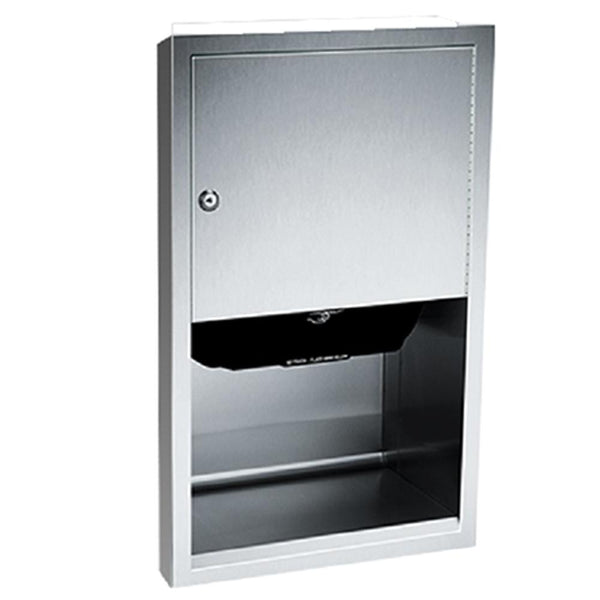 ASI 045210AC-6 Traditional Automatic Roll Paper Towel Dispenser Semi-Recessed - Satin - Prestige Distribution