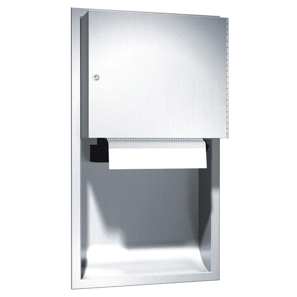 ASI 045224AC Traditional Automatic Paper Towel Dispenser Recessed - Satin