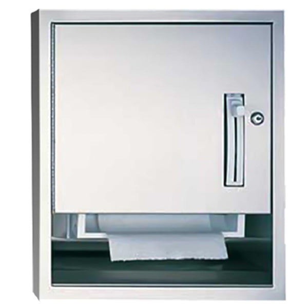 ASI 04523-6 Traditional Roll Paper Towel Dispenser Semi-Recessed - Satin