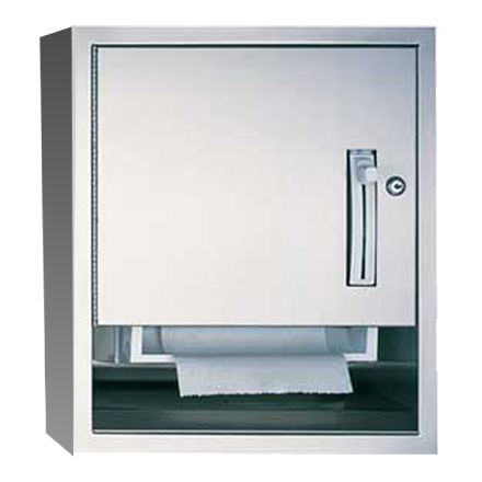 ASI 04523-9 Traditional Roll Paper Towel Dispenser Surface Mounted - Satin