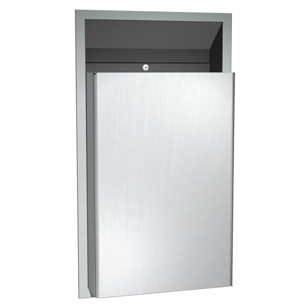 ASI 0458-CX Traditional Waste Receptacle 12 Gal. Semi-Recessed - Satin