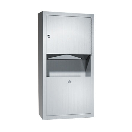 ASI 0462-AD-9 Traditional Paper Towel Dispenser & Waste Receptacle Surface Mounted - Satin - Prestige Distribution