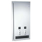 ASI 0464 Sanitary Napkin & Tampon Dispenser Semi-Recessed - Satin