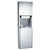 ASI 04692AC-6 Traditional Automatic Roll Paper Towel Dispenser & Waste Receptacle Semi-Recessed - Satin