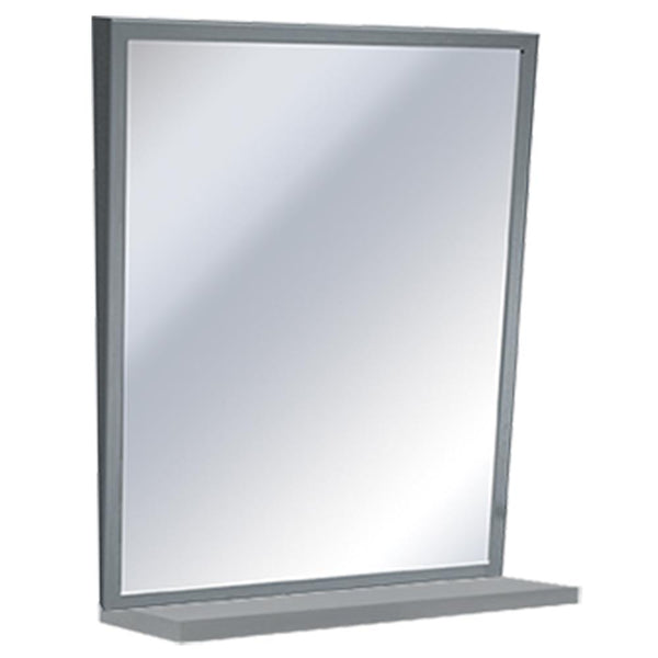 ASI 0537-1630 Mirror w/ Shelf Fixed Angle Tilt Framed Surface Mounted - Satin - Prestige Distribution
