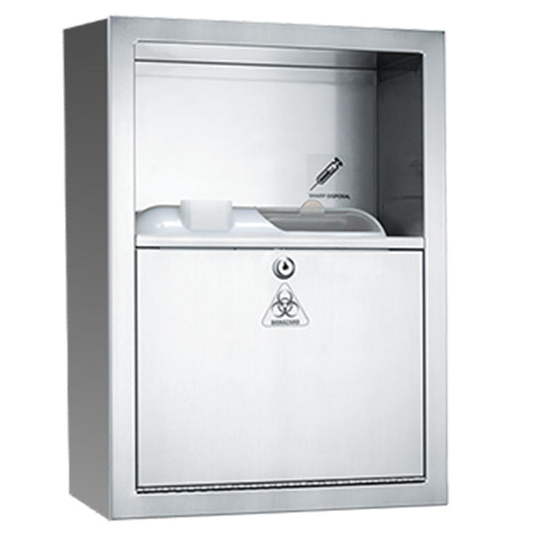 ASI 0548-9 Sharps Disposal Cabinet Surface Mounted - Satin - Prestige Distribution